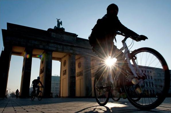 Brandenberg Gate Biker