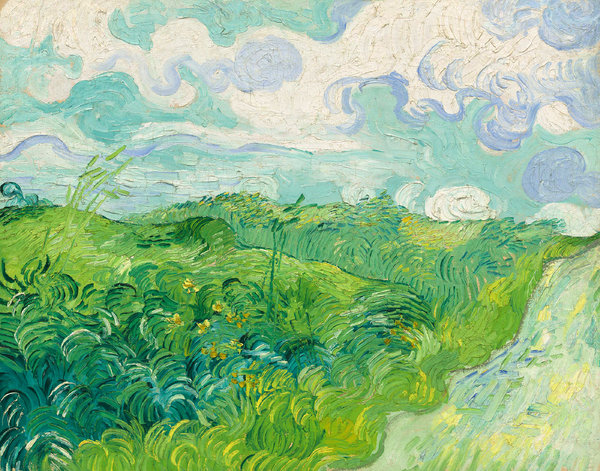 """Green Wheat Fields, Auvers,"" by van Gogh, from 1890, donated to the National Gallery of Art."